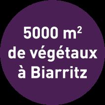 5000m² de végétaux à Biarritz
