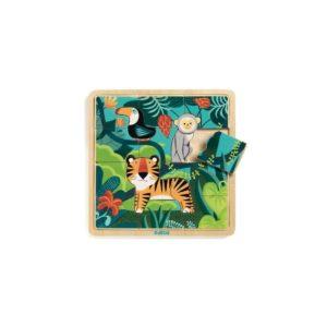 PUZZLES BOIS - Puzzlo Jungle - Djeco