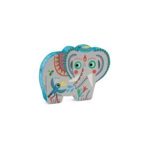 PUZZLE SILHOUETTE - Haathee, éléphant d'Asie 24 pcs - Djeco