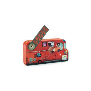 PUZZLE SILHOUETTE - Le camion de pompier 16 Pcs - Djeco