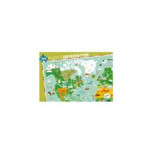 PUZZLE OBSERVATION - Tour du monde - 200 pcs + livret - FSC MIX - Djeco