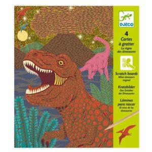 CARTES A GRATTER - Le règne des dinosaures - Djeco