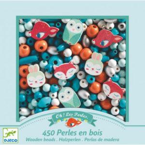 FOISON DE PERLES - Perles en bois, Petits animaux - Djeco