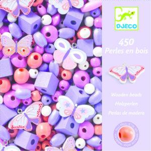FOISON DE PERLES - Perles en bois, Papillons - Djeco