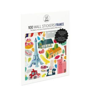POCHETTE de planches de stikers France - OMY